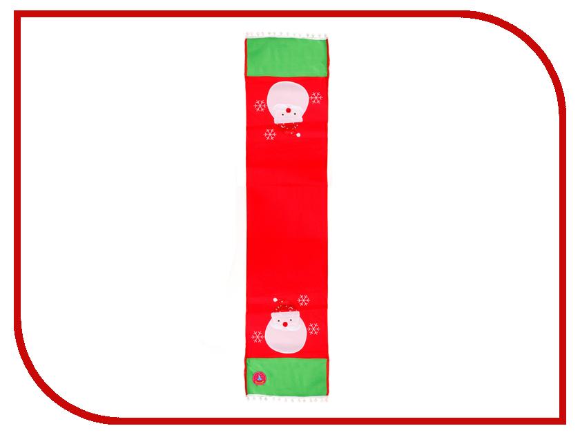 Скатерть-раннер Страна Карнавалия Дед Мороз со снежинками 34x148cm 333479 игрушка страна карнавалия кошелек богатства собачка с деньгами 2279619
