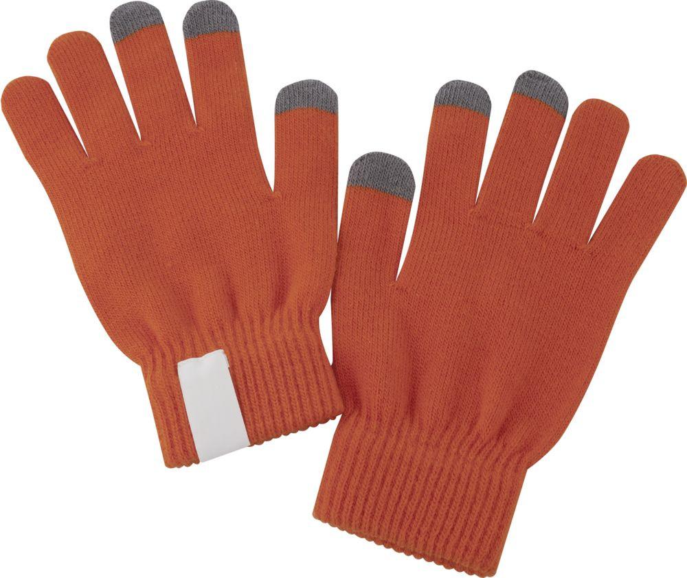 Теплые перчатки для сенсорных дисплеев Проект 111 Scroll Orange 2793.20