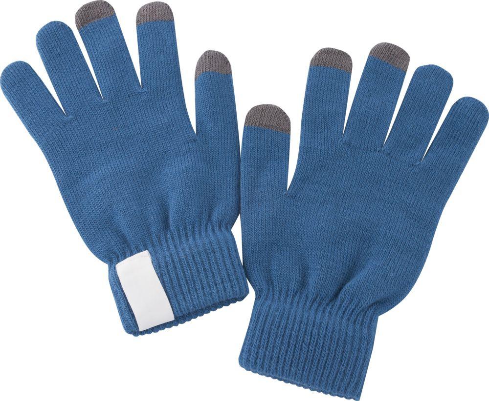 Теплые перчатки для сенсорных дисплеев Проект 111 Scroll Blue 2793.40