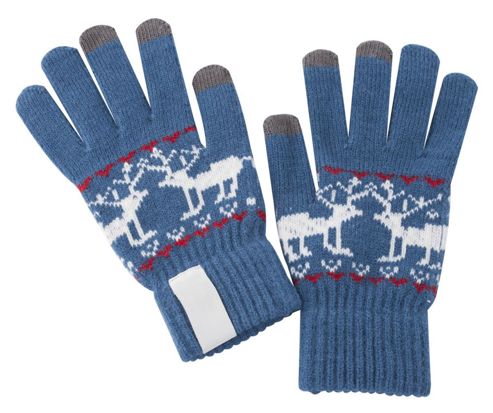 Теплые перчатки для сенсорных дисплеев Проект 111 Raindeer Blue 2795.40