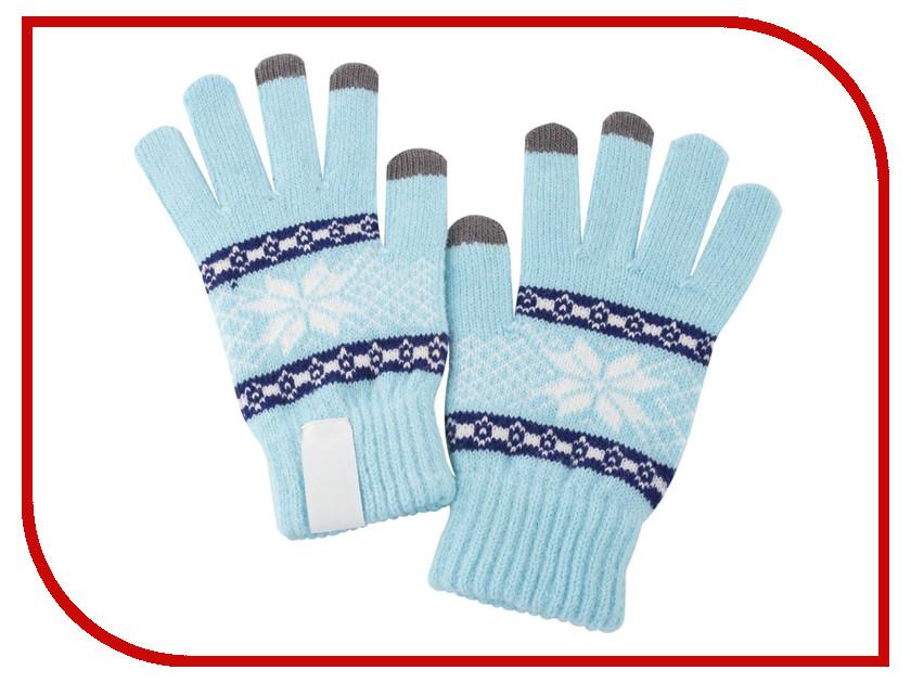 цена на Теплые перчатки для сенсорных дисплеев Проект 111 Snowflake Light Blue 2794.44
