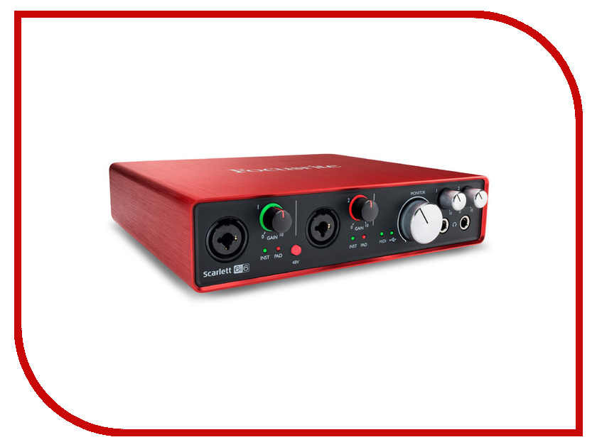 Аудиоинтерфейс Focusrite Scarlett 6i6 2nd Gen цена 2017