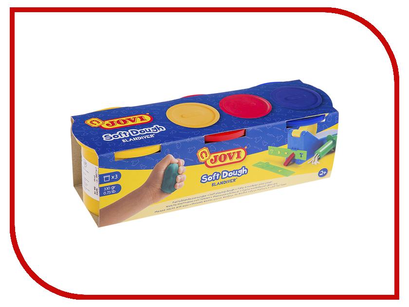 Набор для лепки JOVI Тесто для лепки 3 цвета 110г 403 jovi набор мягкой пасты и аксессуаров для лепки огород