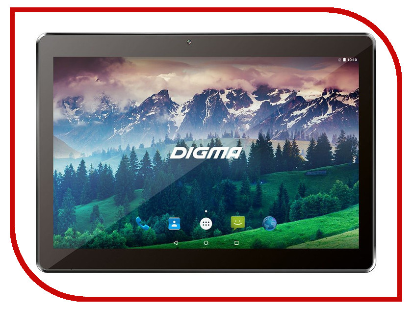 Планшет Digma Plane 1537E 3G Black PS1149MG (Mediatek MT8321 1.3 GHz/1024Mb/8Gb/GPS/3G/Wi-Fi/Cam/10.1/1280x800/Android)