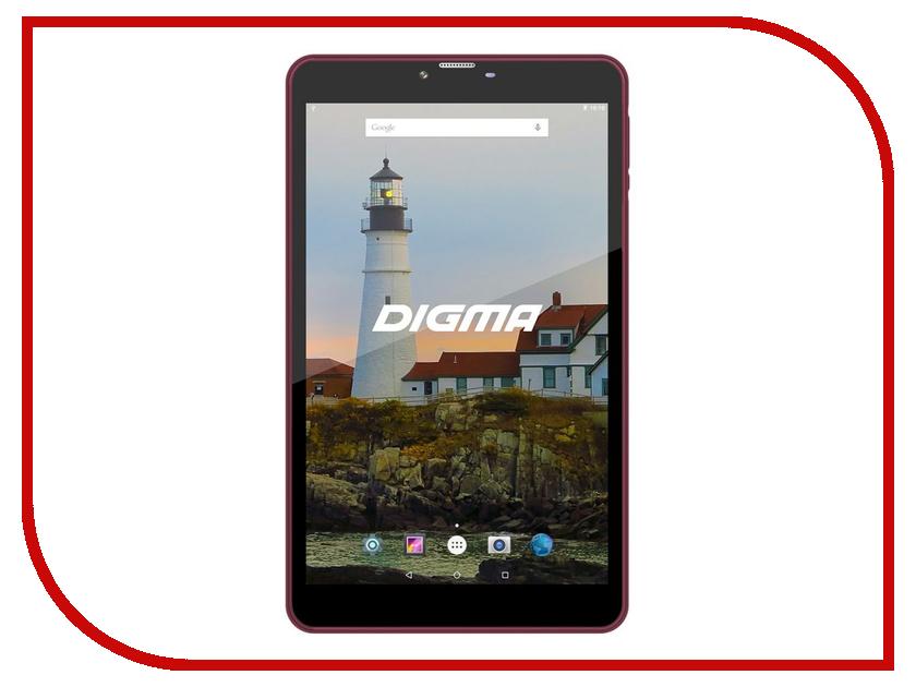 Планшет Digma Plane 8540E 4G Burgundy/Black PS8156ML (Mediatek MT8735 1.0 GHz/2048Mb/16Gb/GPS/3G/Wi-Fi/Bluetooth/Cam/8.0/1280x800/Android) планшет digma plane 7012m 3g red ps7082mg
