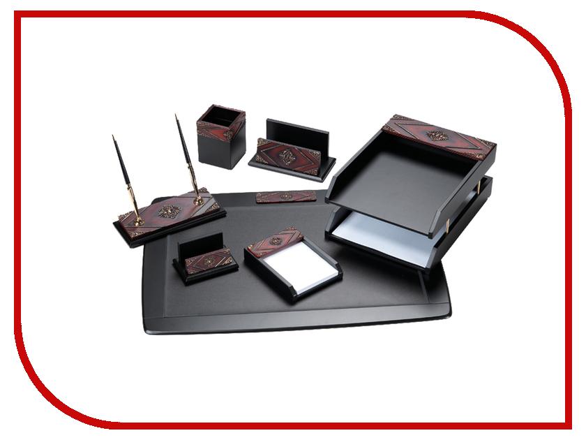 Настольный набор Delucci MBn_07216 Black-Red Wood 255639