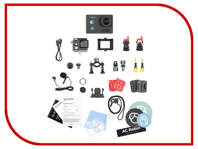 Экшн-камера AC Robin Zed 5 Black prolike 4k plac001bk black экшн камера