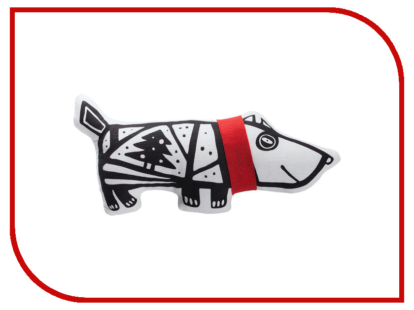 Игрушка антистресс Проект 111 Собака в шарфе White-Red 7795.65