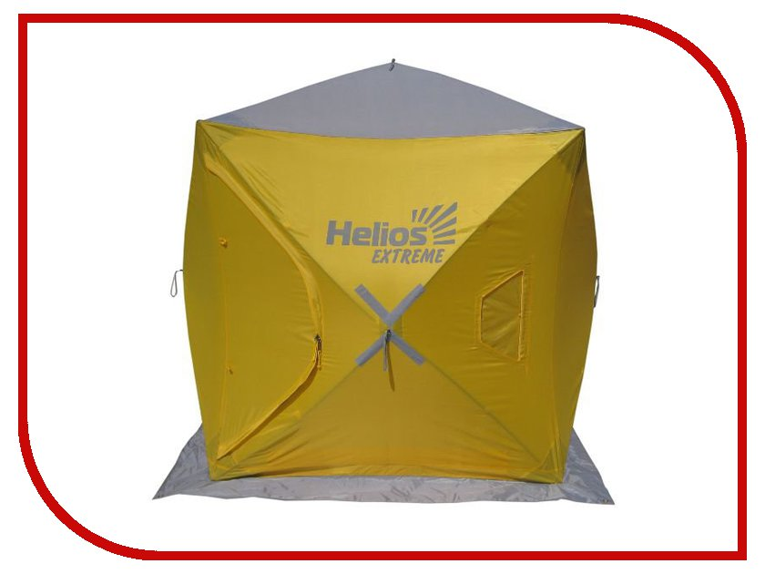 трекинговая палатка helios breeze 3 Палатка Helios Куб 1.5х1.5 Yellow-Grey 0042165