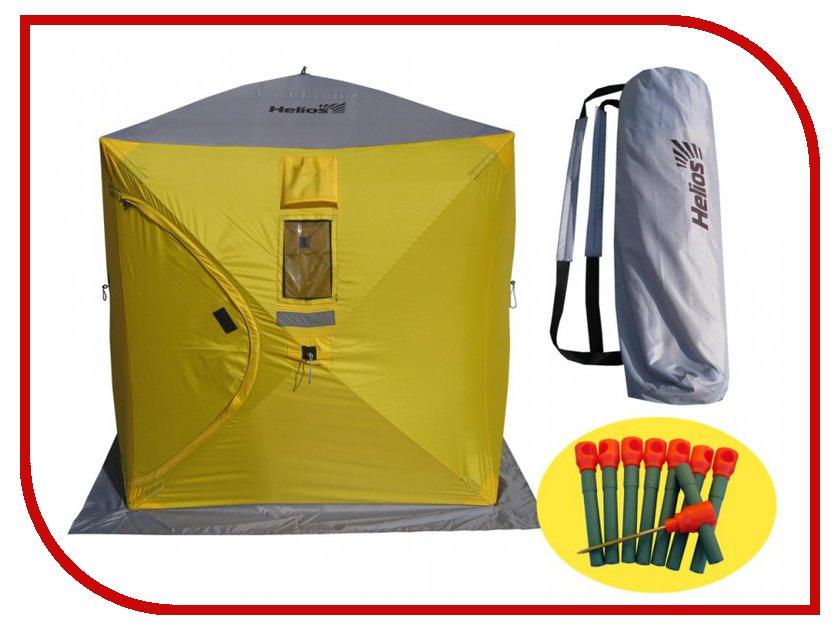 трекинговая палатка helios breeze 3 Палатка Helios Куб 1.8х1.8 Yellow-Grey 0042783