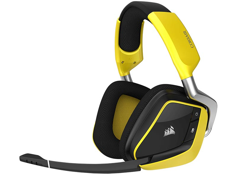 Corsair Gaming Void PRO RGB Wireless SE Dolby 7.1 Yellow CA-9011150-EU цена