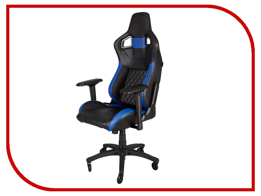 Компьютерное кресло Corsair Gaming T1 Race Black-Blue CF-9010004-WW t1 spacecam