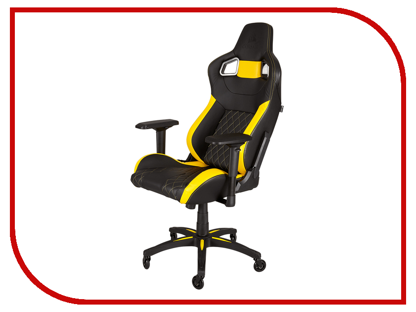Компьютерное кресло Corsair Gaming T1 Race Black-Yellow CF-9010005-WW t1 spacecam