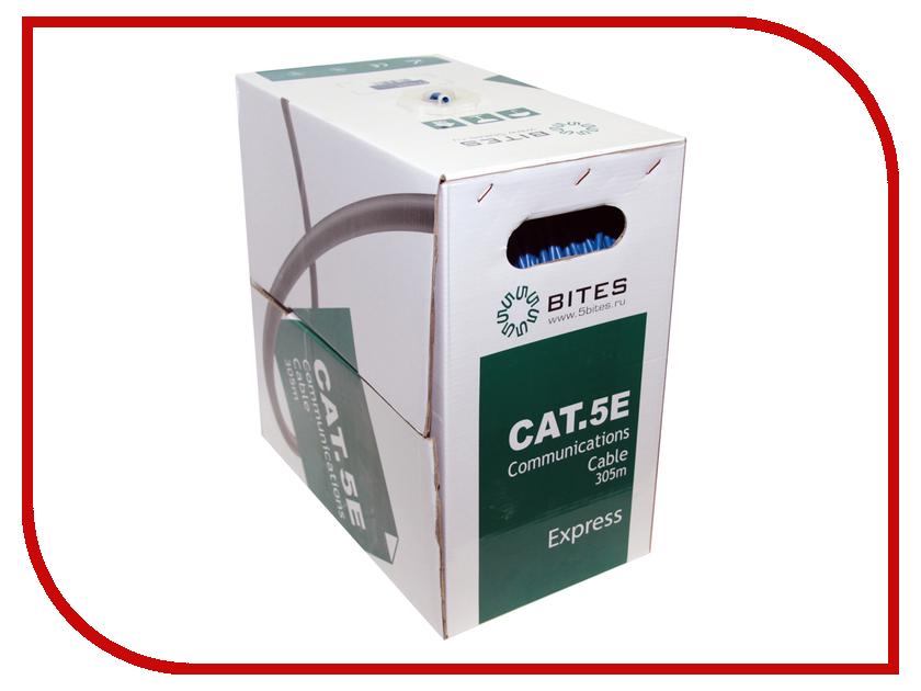 Сетевой кабель 5bites UTP / SOLID / 5E / 24AWG / COPPER / PVC / 305M US5525-305B-BL сетевой кабель 5bites ftp solid 5e 24awg copper pe outdoor messenger drum 305m black fs5505 305ce m