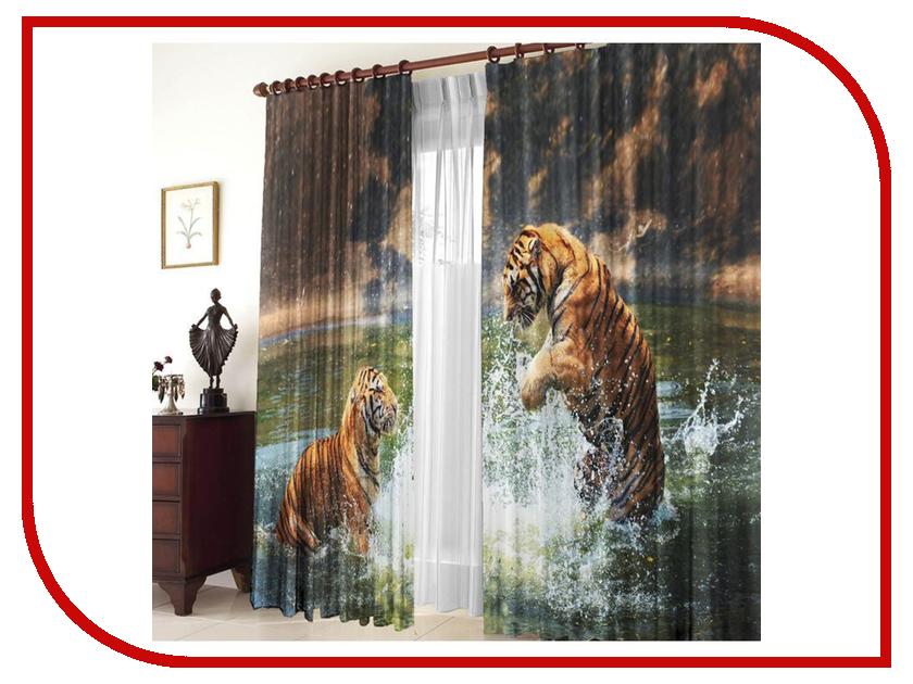Тамитекс Комплект штор Два тигра 150x270cm 2547118 ярость тигра