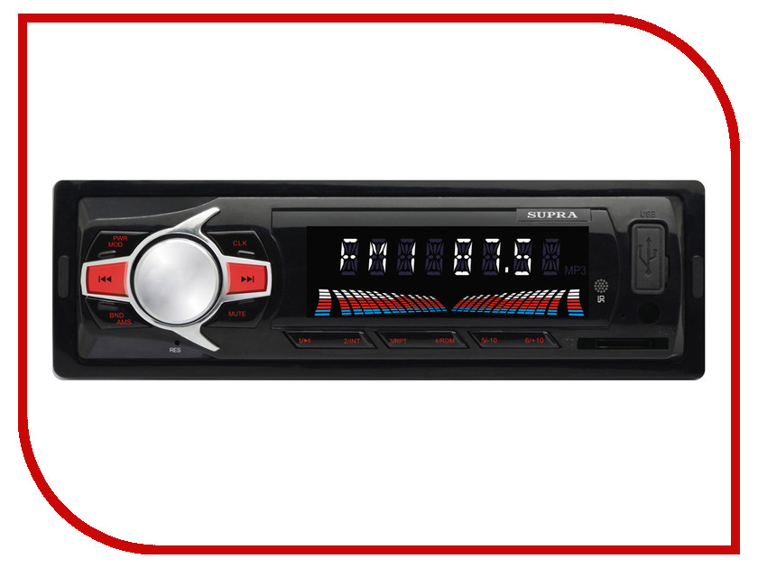 Автомагнитола SUPRA SFD-47U автомагнитола supra sfd 1015u usb mp3 черный