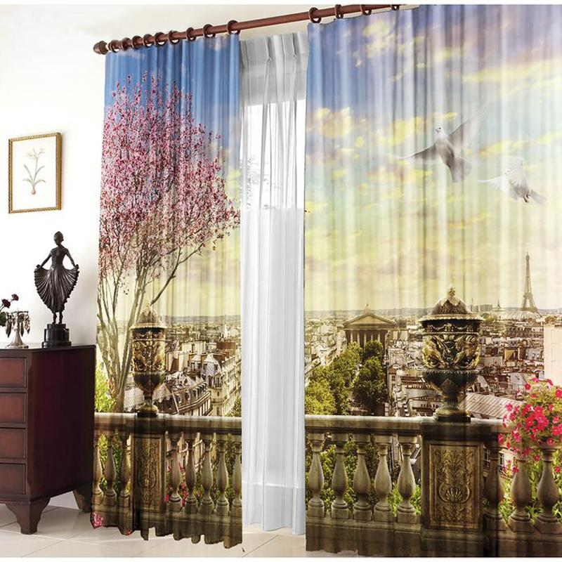 Комплект штор Тамитекс Панорама Парижа 150x270cm 2547166