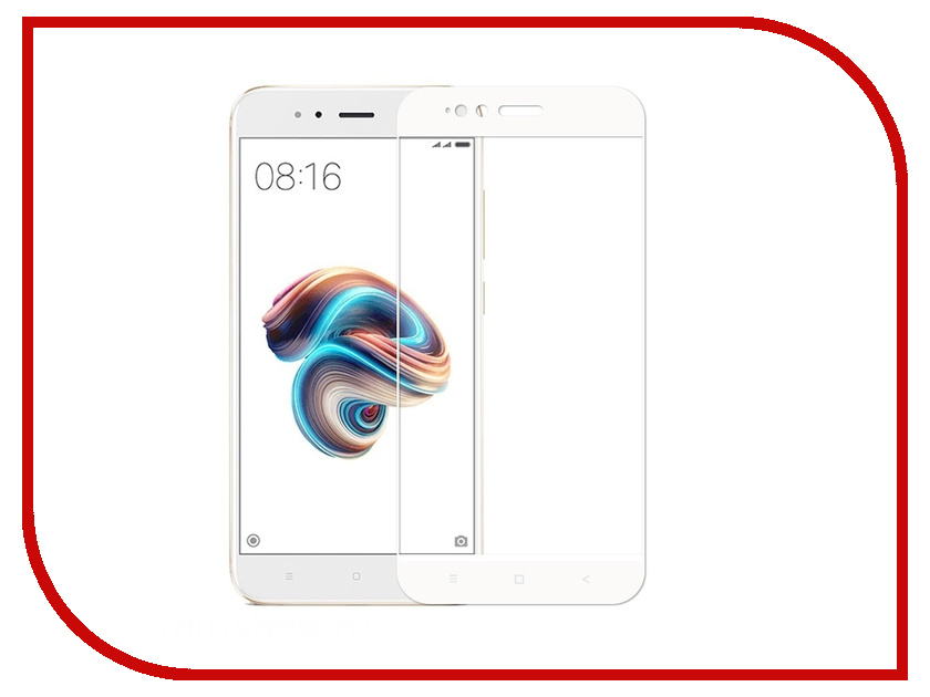 Аксессуар Защитное стекло для Xiaomi Mi A1 / Mi5X Red Line Full Screen Tempered Glass White УТ000013451