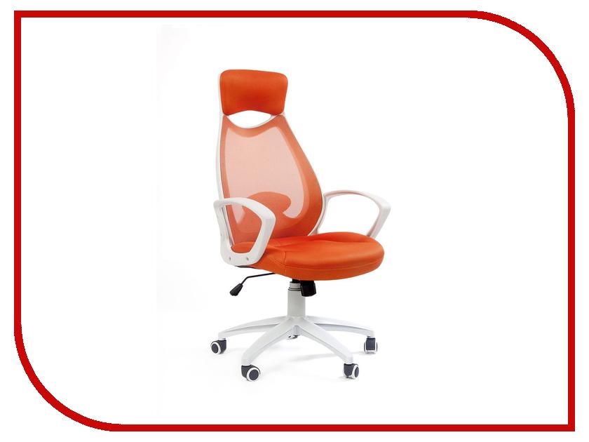 Компьютерное кресло Chairman 840 White-Orange 00-06111656 компьютерное кресло chairman game 12 black orange 00 07016631