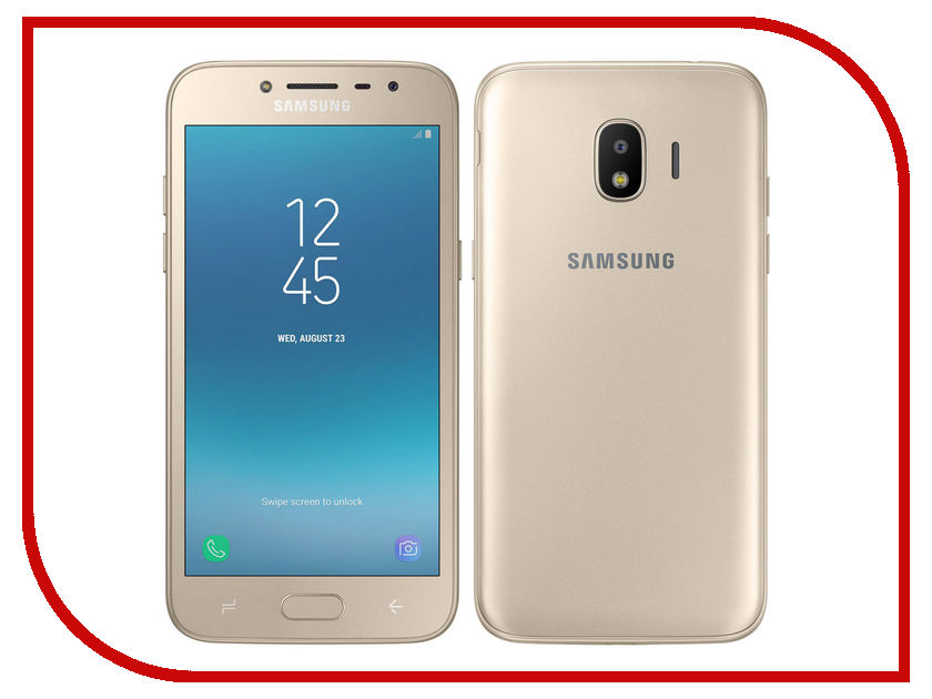 Сотовый телефон Samsung SM-J250F/DS Galaxy J2 2018 Gold сотовый телефон samsung sm a500f ds galaxy a5 duos white