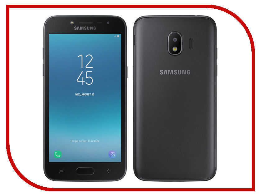 Сотовый телефон Samsung SM-J250F/DS Galaxy J2 2018 Black сотовый телефон samsung sm a500f ds galaxy a5 duos white