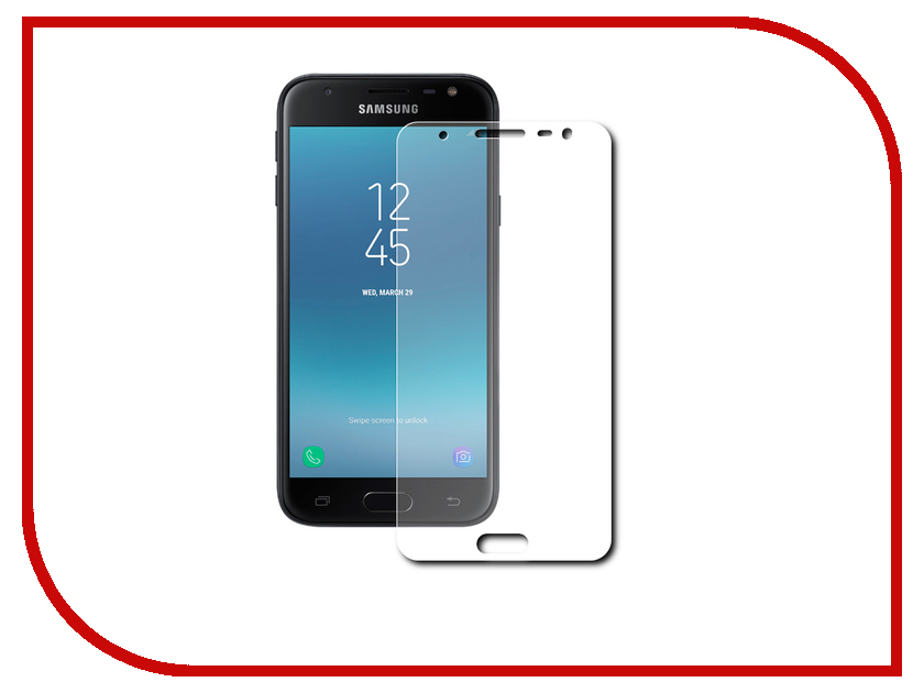 Аксессуар Защитное стекло для Samsung Galaxy J7 2017 Red Line Tempered Glass 0.2mm УТ000012209 car styling accessories for 2015 2016 renault captur stainless steel rear bumper protector trunk guard door sill scuff plate