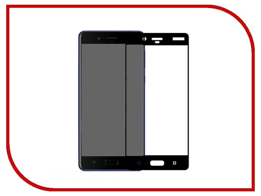 Аксессуар Защитное стекло для Nokia 8 Red Line Full Screen 3D Tempered Glass Black УТ000012261 new amt9534 amt 9534 12 1 inch 8 wire touch screen glass