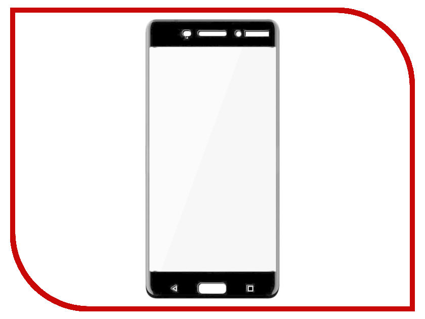 Аксессуар Защитное стекло для Nokia 6 Red Line Full Screen Tempered Glass Black УТ000011013 protective glass red line for nokia 6 2018 full screen black