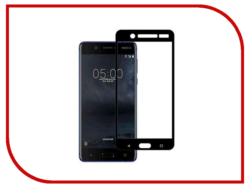 Аксессуар Защитное стекло для Nokia 5 Red Line Full Screen Tempered Glass Black УТ000011012 new lcd display touch screen glass panel digitizer assembly jy s3 1920x1080 fhd 5 5 white black