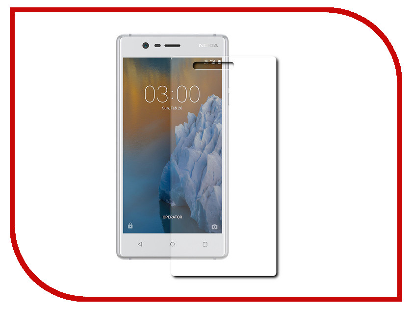 Аксессуар Защитная пленка Nokia 3 Red Line Full Screen TPU nokia 6700 classic illuvial