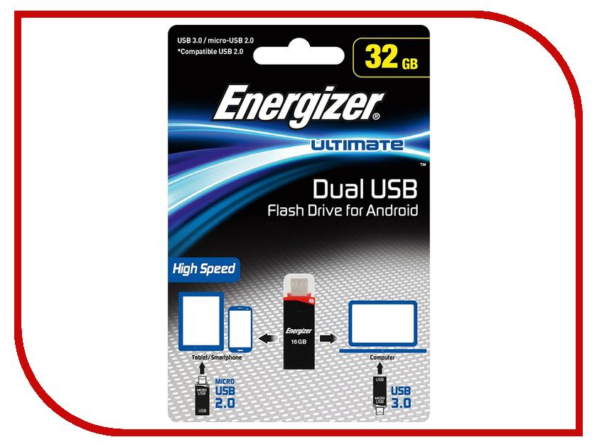 USB Flash Drive 32Gb - Energizer Ultimate Dual USB-A/microUSB FOTANU032R фонарь energizer vision hd focus headlight