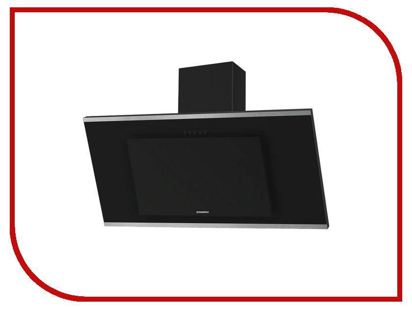 Кухонная вытяжка Maunfeld Tower G 90 Black-Black Glass, полоски Сатин цена и фото