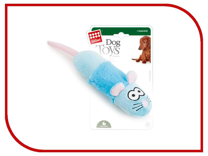 Игрушка GiGwi Мышка с пищалкой 75286 игрушка для кошек gigwi интерактивная мышка длина 8 5 см