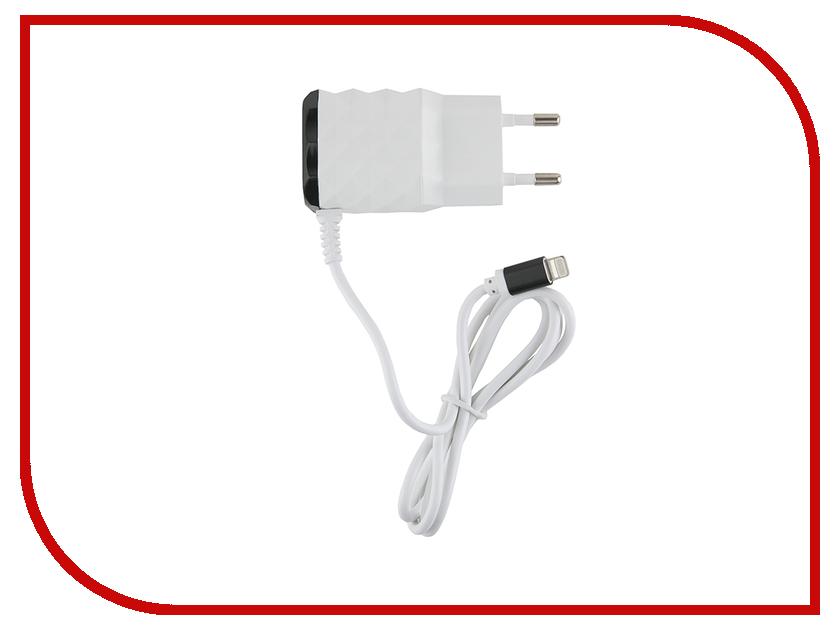 Зарядное устройство Red Line NC-2.1AC 2xUSB + 8pin для кабель APPLE 2.1A Black зарядное устройство red line j03 silver