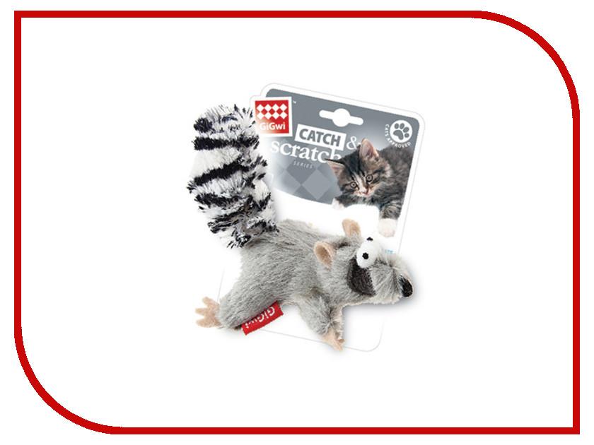 Белка GiGwi 75384 с кошачьей мятой игрушка gigwi мышка с пером и контейнером с кошачьей мятой