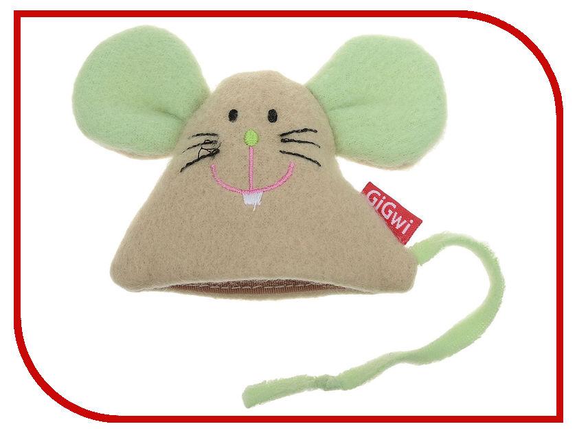 Мышка GiGwi 75041 с кошачьей мятой игрушка gigwi мышка с пером и контейнером с кошачьей мятой