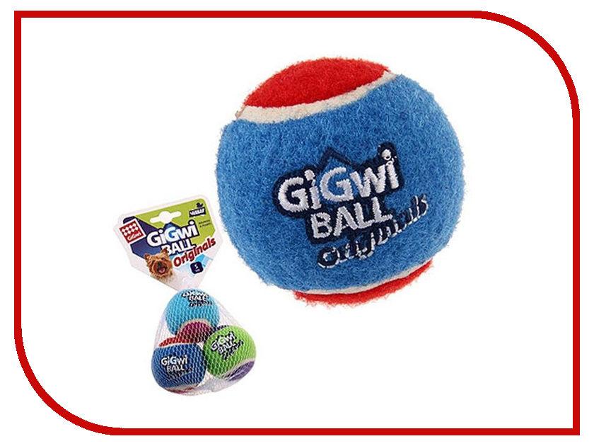 Игрушка GiGwi Три мяча с пищалкой 75340 игрушка для собак gigwi мячи с пищалкой диаметр 4 см 3 шт 75340