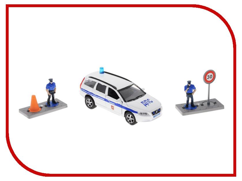 Игрушка Пламенный мотор Volvo Полиция ДПС ГУ БДД 870077 машина пламенный мотор mitsubishi полиция 870105