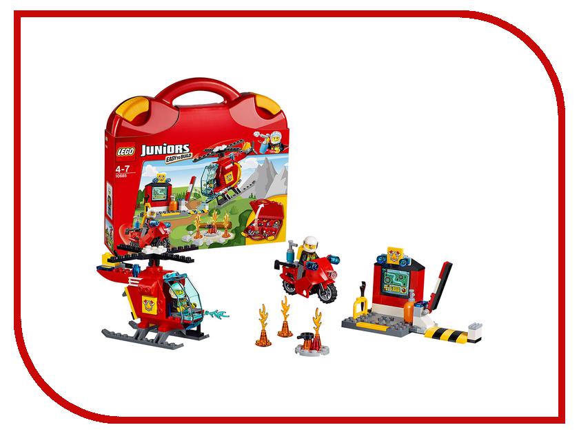 Конструктор Lego Juniors Чемоданчик Пожарный 10685 машинки чудесный чемоданчик