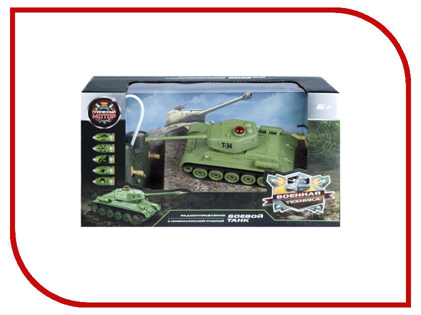 Игрушка Пламенный мотор Танк Т-34 (СССР) 870234 танк на радиоуправлении пламенный мотор king tiger 1 28