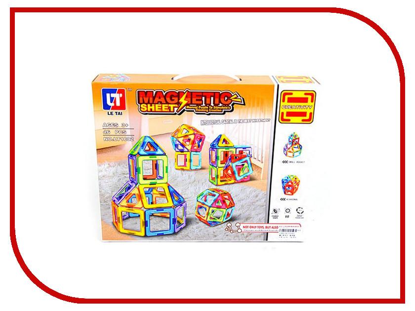 Конструктор Shantou Gepai / Наша игрушка Магнитный 46 дет. LT1002 конструктор shantou gepai лесотаска багги 301 дет 6804