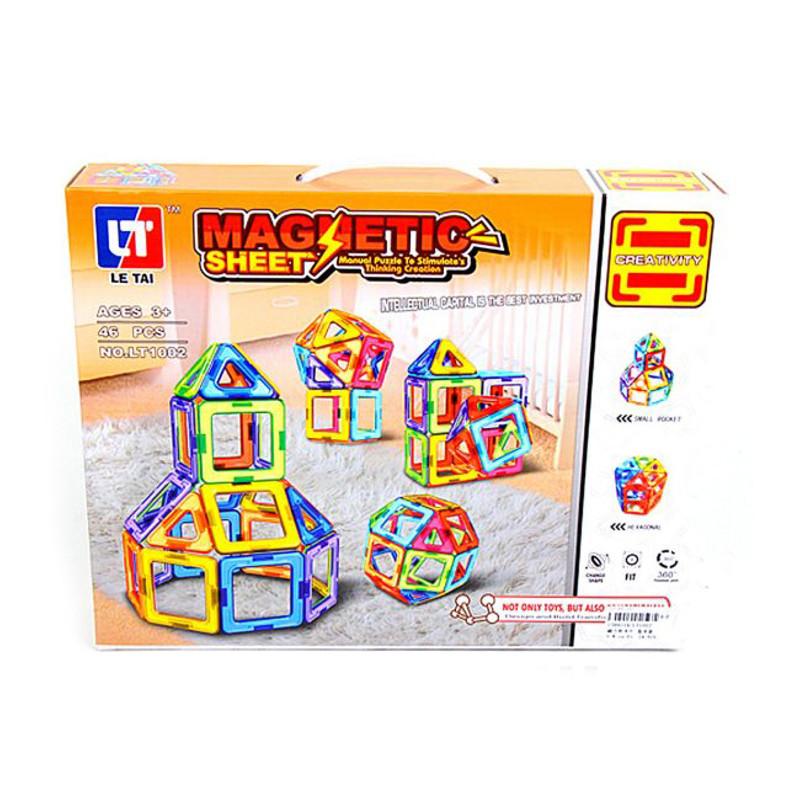 Конструктор Shantou Gepai / Наша игрушка Магнитный 46 дет. LT1002 конструктор guidecraft io blocks 59 дет g9604