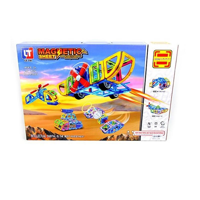 Конструктор Shantou Gepai / Наша игрушка Магнитный Техника 96 дет. LT5001