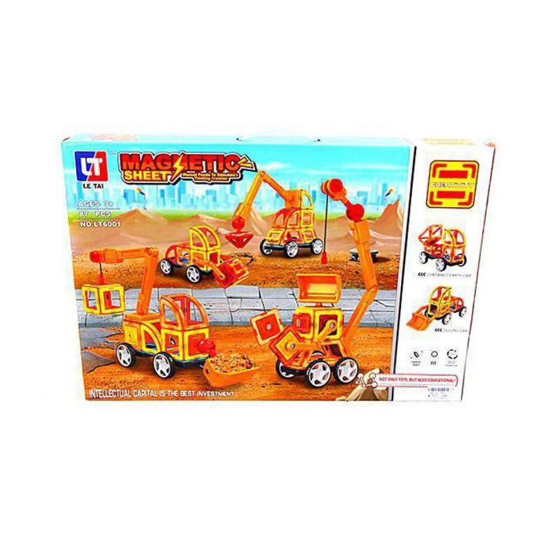 Конструктор Shantou Gepai / Наша игрушка Магнитный Строительная техника 87 дет. LT6001 цена в Москве и Питере