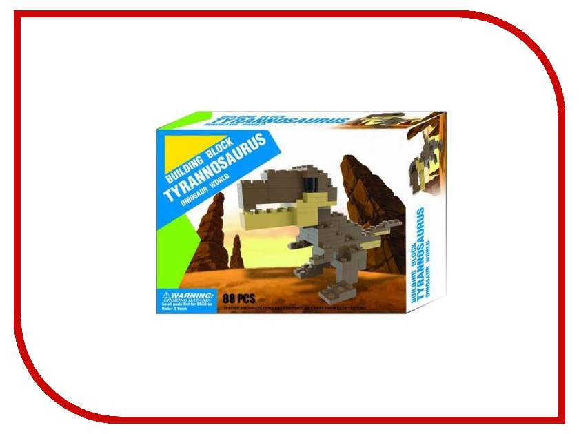 Конструктор Shantou Gepai Динозавр 88 дет. BG2108 конструктор shantou gepai лесотаска багги 301 дет 6804
