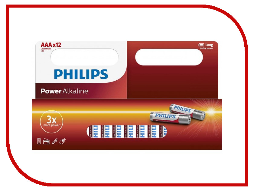 Батарейка AAA Philips LR03P12W/10 (12 штук) мультиварка philips hd4731 03 white