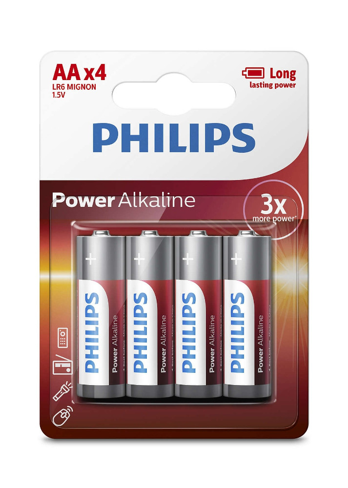 Батарейка AA Philips LR6P4B/51 (4 штуки)