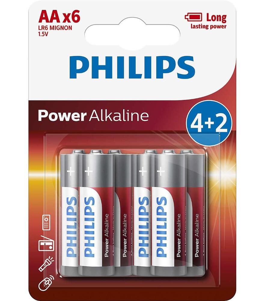 Батарейка AA Philips LR6P6BP/10 (6 штук)