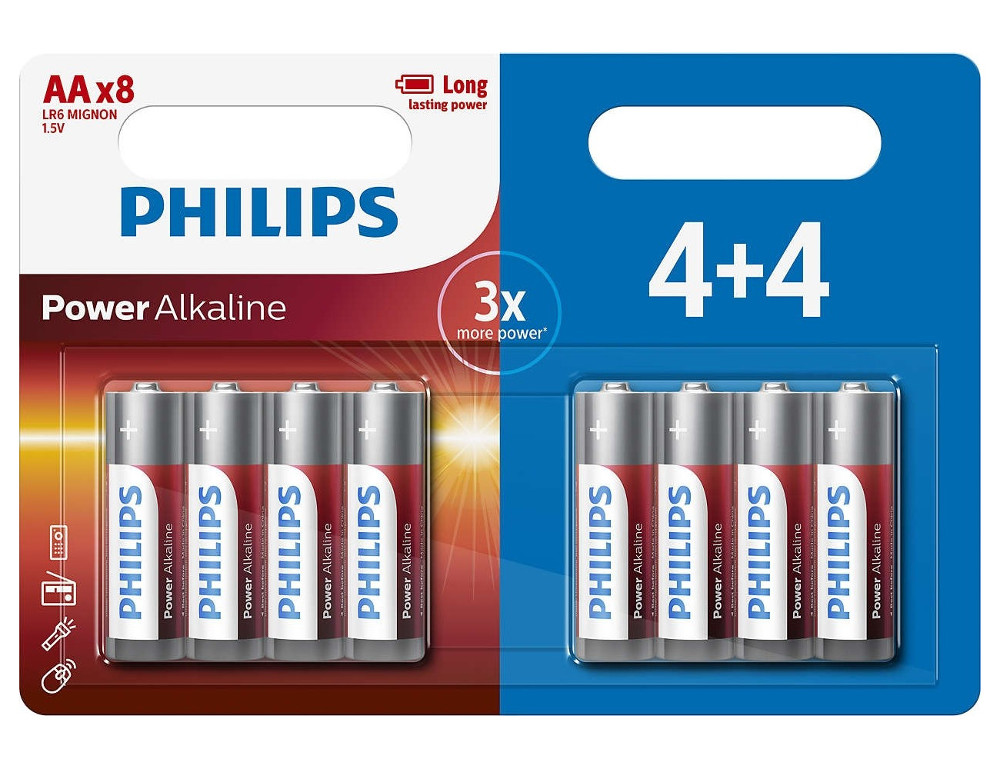 Батарейка AA Philips LR6P8BP/10 (8 штук)