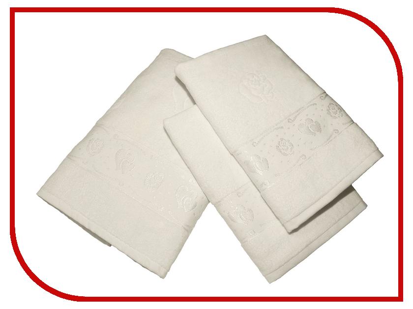 Полотенце Aisha Home 50x90/70x140 3шт Cream УНП-018-01-3 полотенце aisha home 50x90 70x140 3шт blue унп 018 05 3